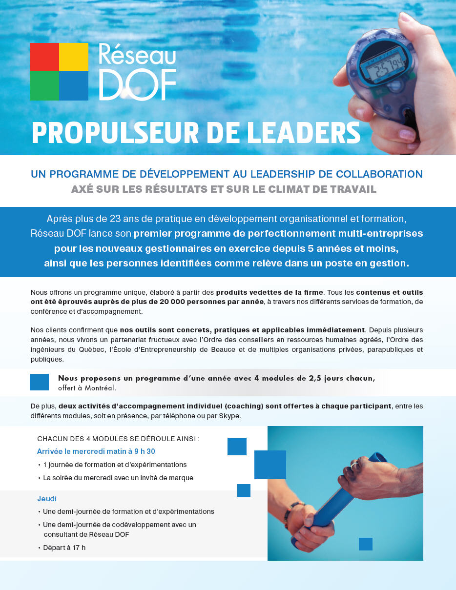 Propulseur de leaders